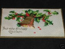 """Antique Bell """" Best Wishes Happy Christmas """" Post Card"""