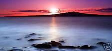 "LARGE BEACH CANVAS ART STUNNING CALM SEASCAPE 44""x 20"""
