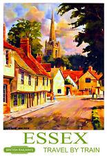 Art ad Essex británico Ferrocarriles Tren Ferrocarril viajar cartel impresión