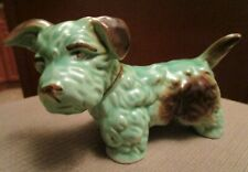 VINTAGE SYLVAC SEALYHAM TERRIER DOG GREEN & BROWN # 1122  ENGLAND