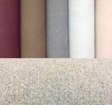 Porter+Stone CARNEGIE Plain Herringbone Wool Effect Upholstery/Curtain Fabric
