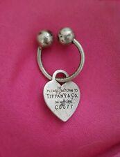 Tag Key Ring Size Medium Return To Tiffany Sterling Silver Heart