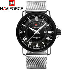 Belle Montre Militaire Naviforce US ARMY Top Qualité Homme Cuir Date Men Watch