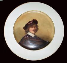 An Antique Sevres Plate Depicting Rembrandt