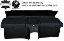BLACK STITCH REAR STORAGE PANEL LEATHER COVERS FITS HONDA CRX DEL SOL 92-97
