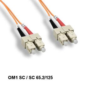 Kentek 2m OM1 SC/SC MultiMode Fiber Optic Cable 62.5/125 Duplex UPC Network ATM