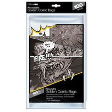 More details for ultra pro - resealable storage bags - golden age comic size (100 bags)
