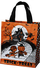 "Primitives by Kathy Halloween Tote Bag - Trick or Treat - 8.5"" x 10"" x 4.5"""