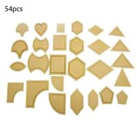 54pc/Set Acrylic Ruler Quilt Patchwork Template Quilting Cr Tool Sewing DIY A0K6