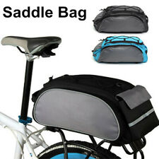 AU 13L Bicycle Seat Rear Tail Bag Bike Pannier Rack Cycling Saddle
