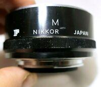Nikon Macro Extension tube M F for Photomic FTn Ft F2 cameras Micro lenses