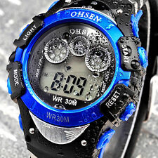 1pc Men's Military Army Style Sports LCD Backlight Analog Quartz Wrist Watch