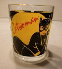 1991 Batman Returns ~ Catwoman Plastic Tumbler DC Comics