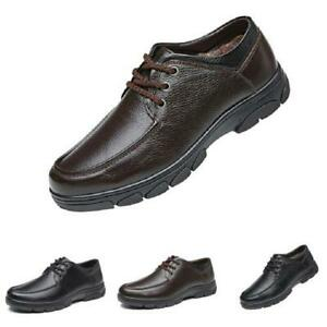 Mens Business Leisure Shoes Round Toe Walking Sports Lace up Breathable Casual L