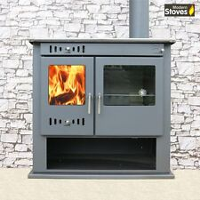 Wood Burning Multi fuel Stove Range Oven Cooker with Back Boiler Condor Hotwater