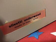 Vintage Italian Olivetti Underwood Linea 88 manual typewriter antique