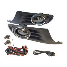 For 10-14 Volkswagen VW Golf MK6 Jetta Clear Fog Light w/ Bezel Switch Bulb Wire