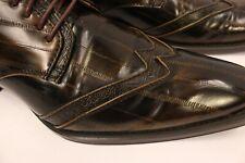 Mens Antonio Cerrelli Elite aligator skin design dress shoe size 11 wing toe
