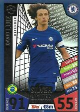 MATCH ATTAX CHAMPIONS LEAGUE 2017/18 LIMITED EDITION DAVID LUIZ SILVER CHELSEA