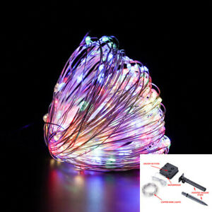 Solar LED Fairy String Lights Outdoor Party Beauty Waterproof Decorates Tactics