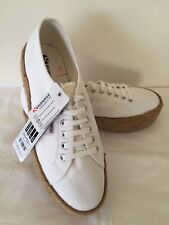 White Rope Platform Superga 2790 Women's Casual Shoes US 9.5 New (with Tags)