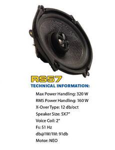 CRITICAL MASS AUDIO SPEAKER RS57 F150 SOUND JL CARBON FIBER FORD MUSTANG 5X7 6X8