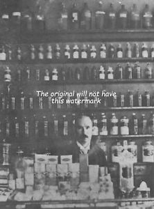 CHEMIST- PHARMACY SHOP BODMIN CORNWALL 1895 HISTORIC LARGE MOUNTED PRINT