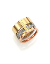 MICHAEL KORS Tri-Color Clear Stackable Ring, Sz 6 w/ MK Dust Bag NWT