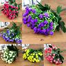 ARTIFICIAL 36HEAD SILK FLOWERS BUNCH Wedding Home Grave Outdoor Bouquet #bz3