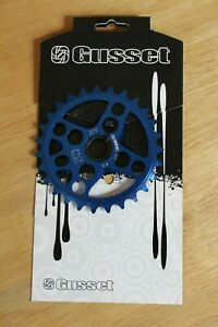 New - Gusset 4 Cross Chainwheel Chainring 27t Blue