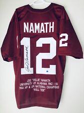 Joe Namath Alabama Signed Crimson Tide Autographed Football Stat Jersey STEINER