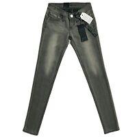 Teens Girl's Women's Levi's REVEL Low Rise Skinny Leg Grey Jeans Size W23 L32