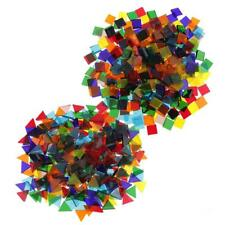 500pcs Mixed Color Clear Triangle Square Glass Mosaic Tiles Piece for Craft