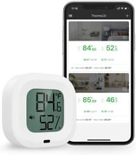 Wireless Thermometer Humidity Meter for iPhone/Android 35m Wireless Range