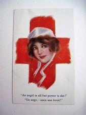 Vintage Red Cross Postcard with Nurse Pictured - Unused. *