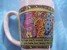 Suzy Toronto TINGLE HEART '05 12oz Coffee Mug Flip Flops dont count to many shoe