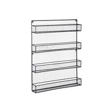 Spice Rack Organizer Metal 4 Shelves Wall Mount Pantry Kitchen Storage Herbs USA