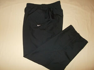 NIKE BLACK MESHED LINED ATHLETIC PANTS MENS MEDIUM EXCELLENT CONDITION