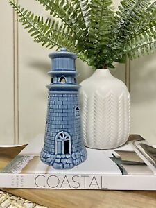 Byron Blue Lighthouse Beach Coastal Nautical Hamptons Home Decor Figurine 18cmH