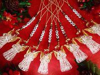 ***Personalised Christmas Tree Decoration Glass Angel Keepsake Memory Gift***