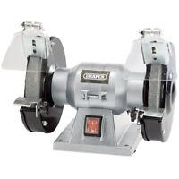 """DRAPER 150mm 6"""" Workshop Bench Grinder Twin Grinding Stones 150w 240v 83420 NEW"""