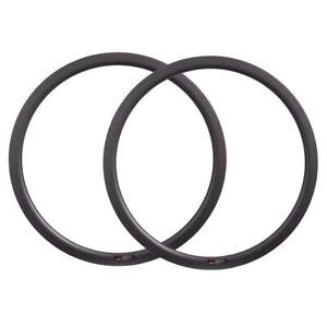 700C Cyclocross Road Bike Carbon Wheels Disc Brake Bicycle Rim 38mm V/U Shape