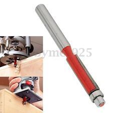 6mm 1/4'' End Dual Flute Router Bearing Wood Edge Flush Trim Cutter Cut Bit Tool