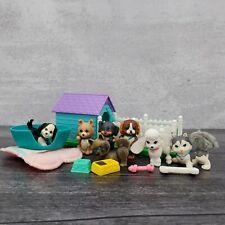 Vintage Kenner Littlest Pet Shop Doghouse Playset Lot