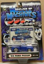 BLUE BLOWER 1956 56 FORD PICKUP TRUCK DRAG RACING SERIES 01 14 MUSCLE MACHINES