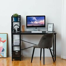 Computer Desk with 4 Tier Shelves 47.2'' Multifunctional with steel frame