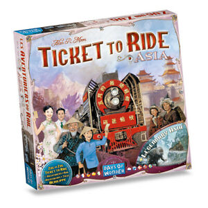 Asia & Legendary Asia Ticket To Ride Map Collection #1 Game DO7213 Expansion