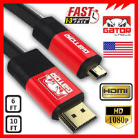 Micro HDMI to HDMI Cable Adapter Converter 4K GoPro HERO 7 6 5 4 3 Camera 60Hz