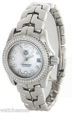 Tag Heuer Ladies Professional MOP Diamond Dial Stainlees Steel Watch WT141J
