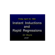 Gil Boyne Instant Inductions And Rapid Regressions